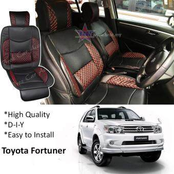 Toyota Fortuner 2008 Red Lining Design Universal Car PU Seat Mat With Lumbar Support Per Piece