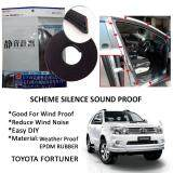Toyota Fortuner 2008 SCHEME SILENCE (Double D) DIY Air Tight Slim Rubber Seal Stripe Sound & Wind Proof & Sound Proof for Car (4 Doors)
