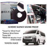 Toyota Hiace SCHEME SILENCE (Double D) DIY Air Tight Slim Rubber Seal Stripe Sound & Wind Proof & Sound Proof for Car (4 Doors)