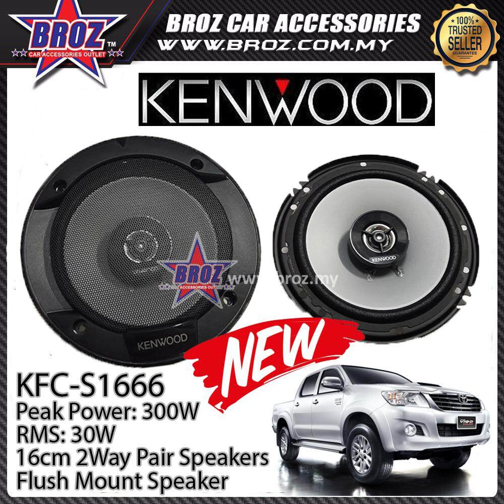 Broz Toyota Hilux Rear Kenwood KFC-S1666 Stage Sound Series 2 Way Speakers