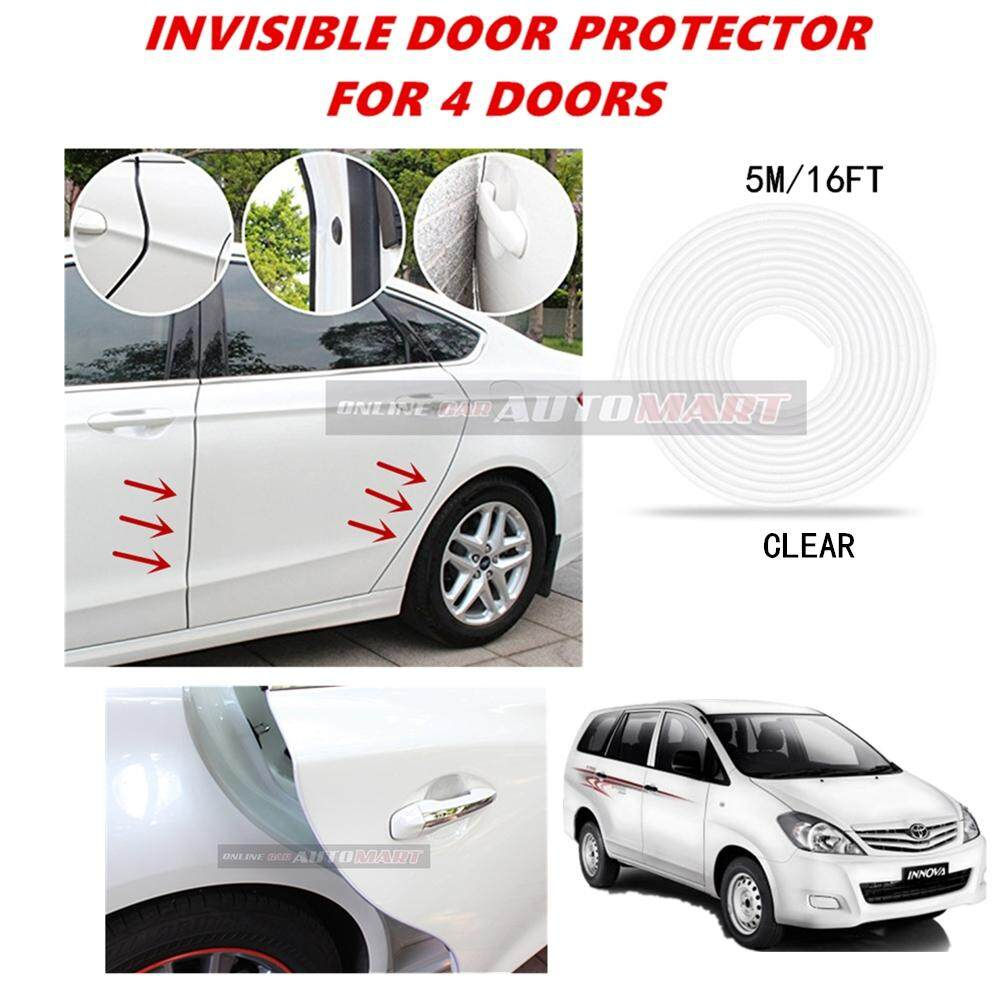 Toyota Innova - 16FT/5M (CLEAR) Moulding Trim Rubber Strip Auto Door Scratch Protector Car Styling Invisible Decorative Tape (4 Doors)