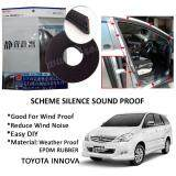 Toyota Innova SCHEME SILENCE (Double D) DIY Air Tight Slim Rubber Seal Stripe Sound & Wind Proof & Sound Proof for Car (4 Doors)