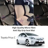 Toyota Prius C High Quality Micro Fibre Anti Slip Grip Seat Mat (Black)