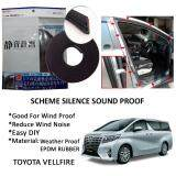 Toyota Vellfire 2006-2015 SCHEME SILENCE (Double D) DIY Air Tight Slim Rubber Seal Stripe Sound & Wind Proof & Sound Proof for Car (4 Doors)