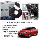 Toyota Vios 2003-2016 SCHEME SILENCE (Double D) DIY Air Tight Slim Rubber Seal Stripe Sound & Wind Proof & Sound Proof for Car (4 Doors)