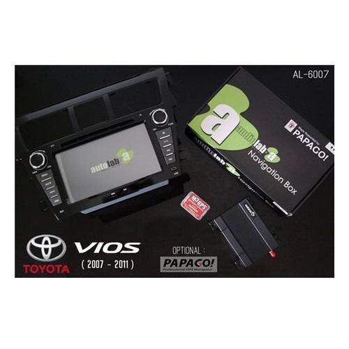 TOYOTA VIOS 2007 - 2011 AUDIOLAB AL-6007 7 Double Din GPS DVD VCD MP3 CD USB SD Bluetooth TV Player Free Camera & TV Antenna""