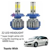 Broz Toyota Wish (Head Lamp) Z2 LED Light Car Headlight Auto Head light Lamp 6000k White Light
