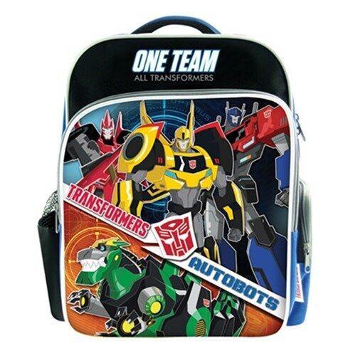 Transformers Pre School Bag - Black, Blue And Orange Colour