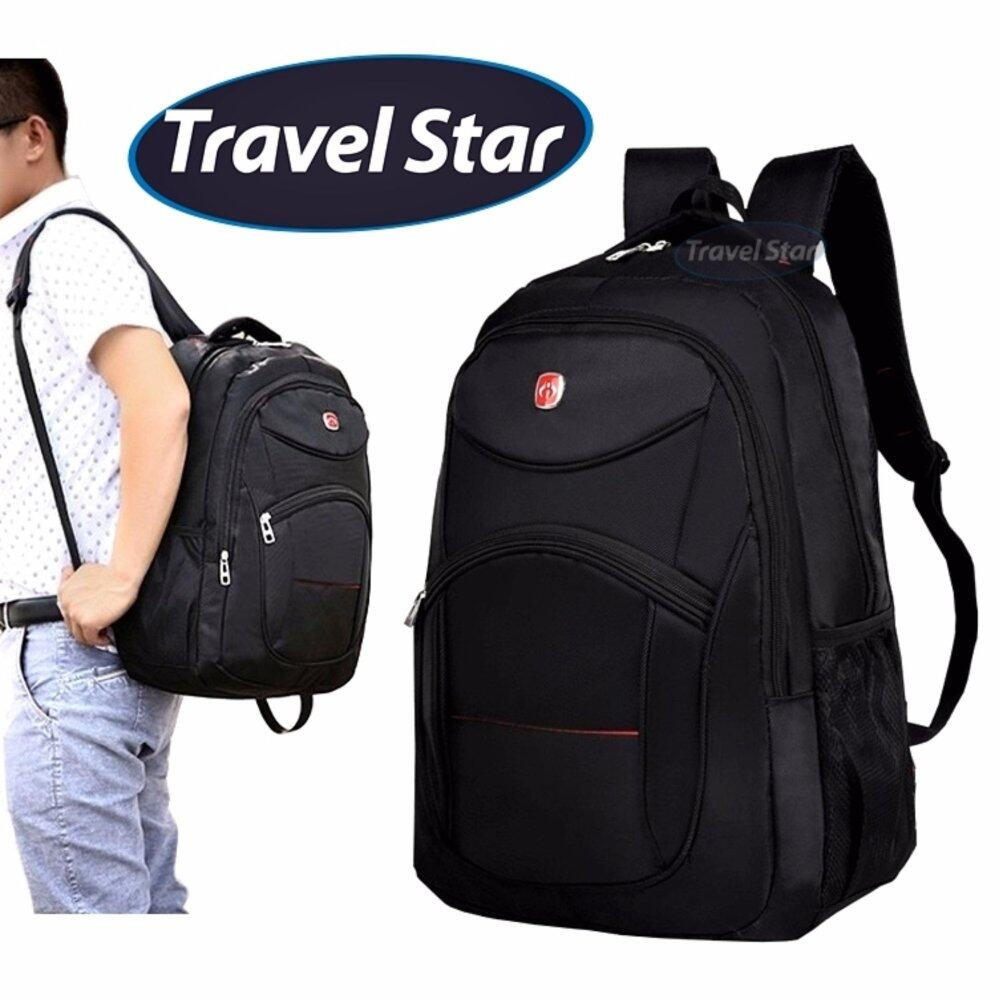 Diy laptop backpack - Travel Star 056 Premium Double Strap Nylon Laptop Backpack Black Lazada Malaysia