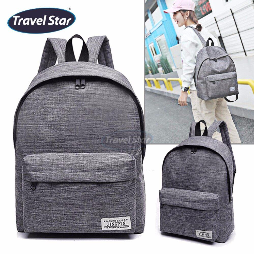 Travel Star 364 Korean Style Premium Double Strap Backpack - Grey