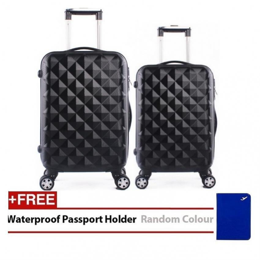 Travel Star SD Series 2 in 1 Luggage Bagasi Set Black