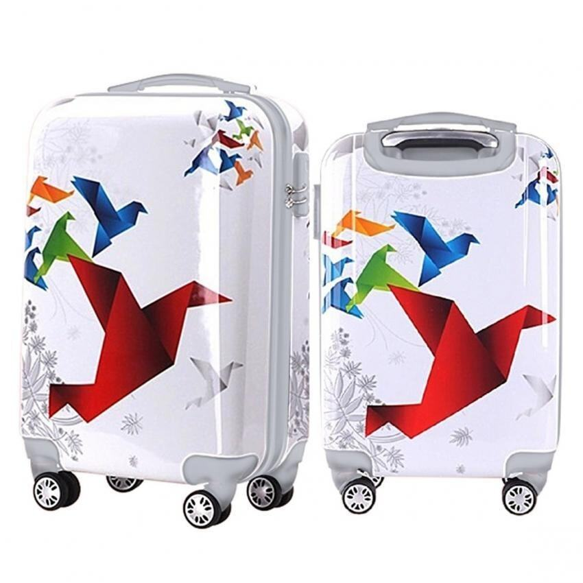 Travel Star Ultralight Weight Luggage Bagasi 2 in1 Set (20 Inch+24Inch)- Flying Birds