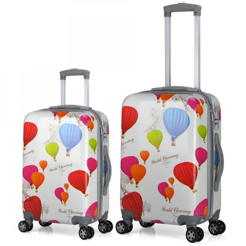 Travel Star Ultralight Weight Luggage Bagasi 2 in1 Set (20 Inch+24Inch)- Hot Balloon