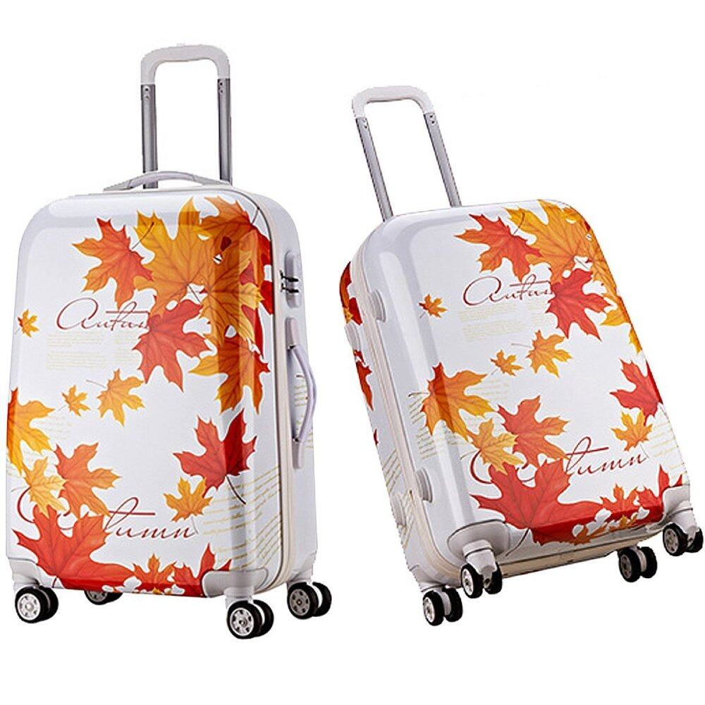 Travel Star Ultralight Weight Luggage Bagasi 2 in1 Set (20 Inch+24Inch)- Maple Leaf