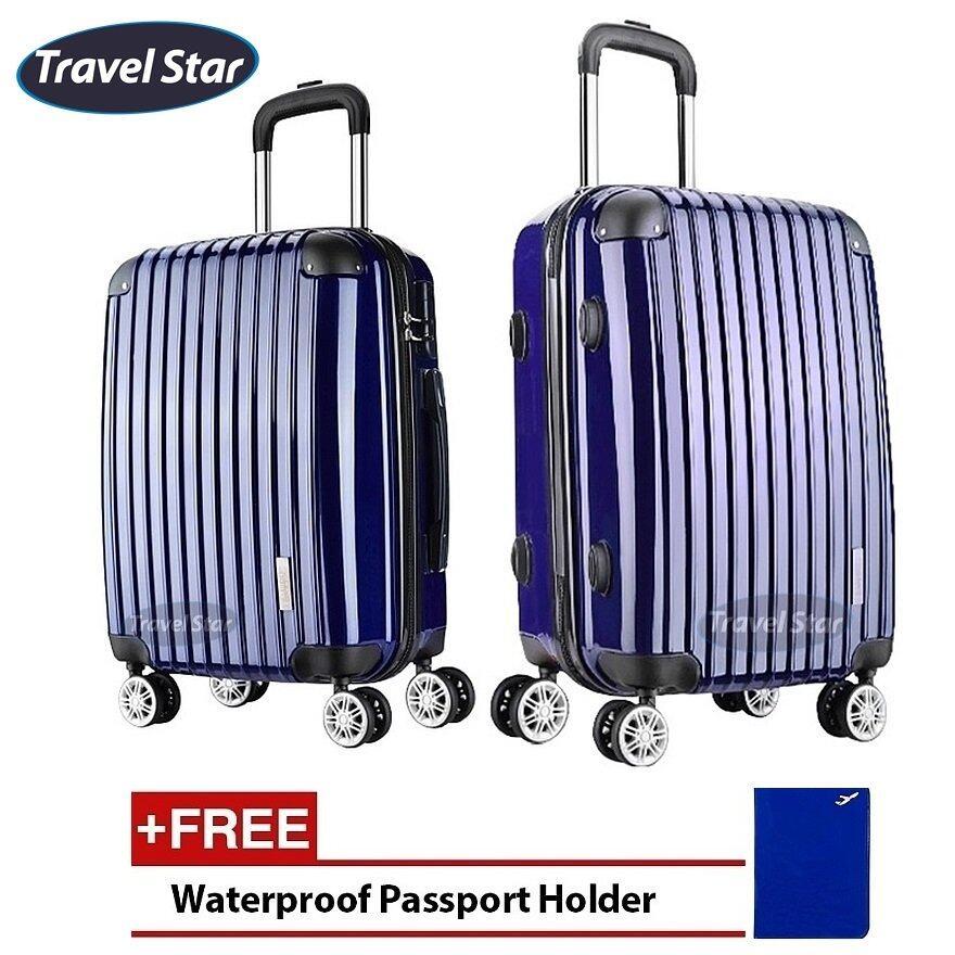 Travel Star X02 Premium Luggage Bagasi Set (20+ 24inch)- Navy Blue