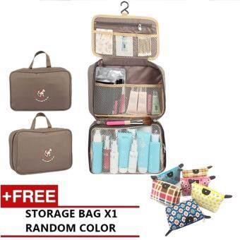 Travel X Multifunction Travel Hanging Wash Bag Toiletry Bag FREE make up bag  (Grey) f91452032e