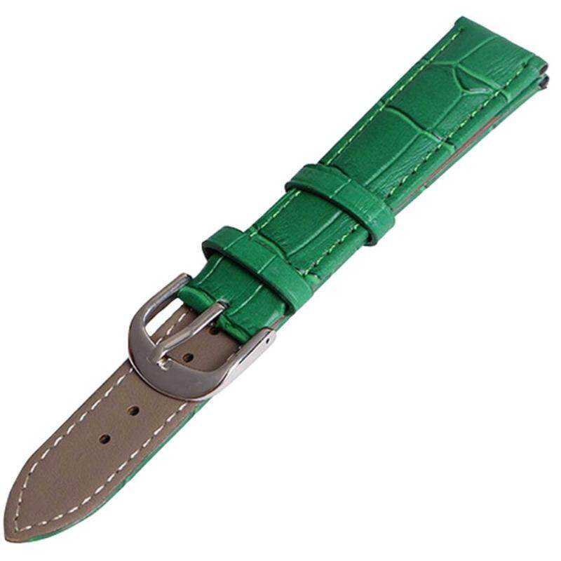 Twinklenorth 18mm Green Genuine Leather Watch Strap Band Malaysia