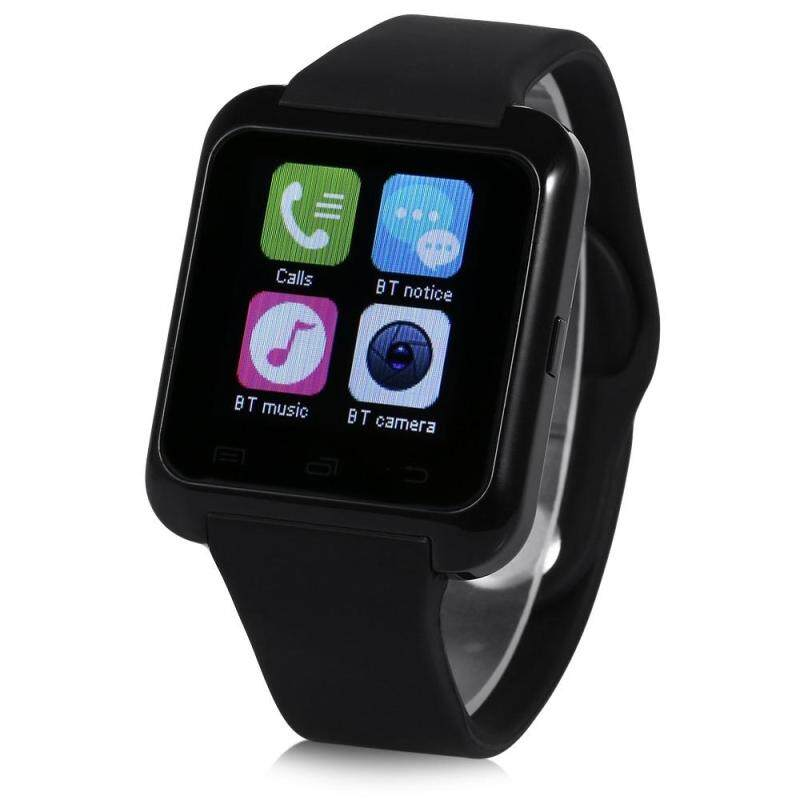 U80 - 1 SMART BLUETOOTH WATCH CALL MESSAGE REMINDER SLEEP MONITOR (BLACK), Black Malaysia
