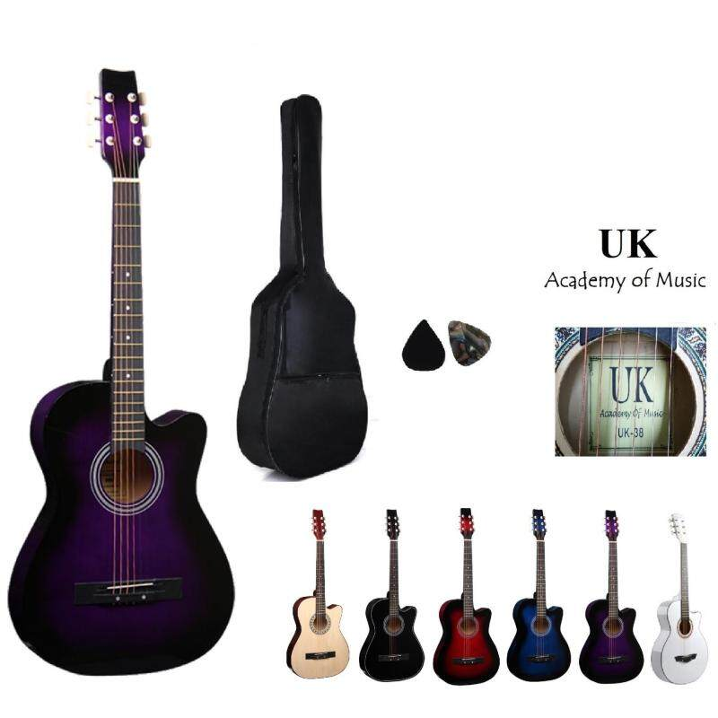 UK Acoustic Guitar 38 Inch(Purple) Free Bag and 2 Picks Malaysia