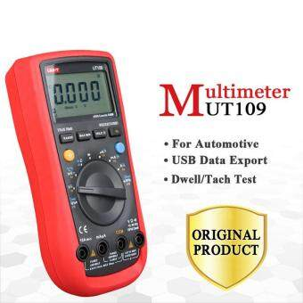 UNI-T UT109 Automotive LCD Digital Multimeter AC DC VoltageResistance Meter