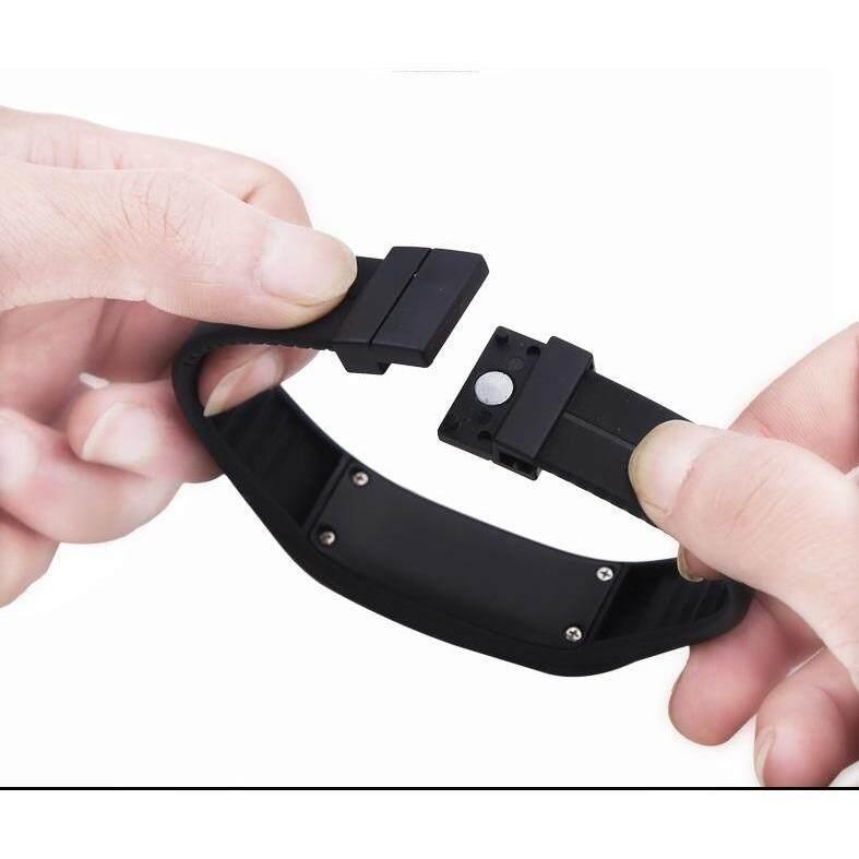 Unisex Digital LED Wrist Bracelet Watch Sports Jogging Gym Hiking Camping Fashion (Grey)
