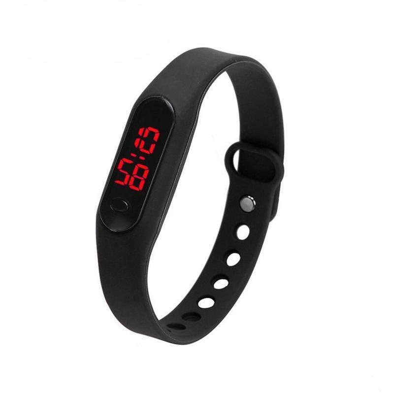 Unisex Sports Casual Date Sports Bracelet Digital Watch (Black) Malaysia