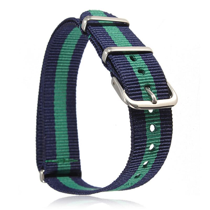 Universal 18mm Durable Mens Military Nylon Wrist Watch Band Strap 260mm 50# Malaysia