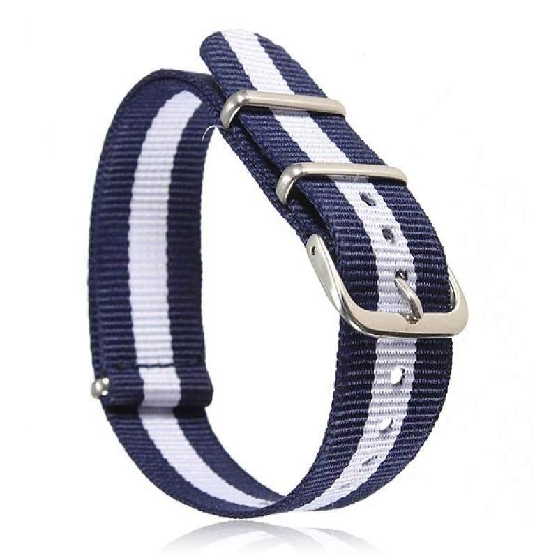 Universal 18mm Durable Mens Military Nylon Wrist Watch Band Strap 260mm 42# Malaysia