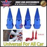 Broz Universal Car Wheels 4pcs Motorcycle Car Tire Valve Caps Covers Aluminum Blue