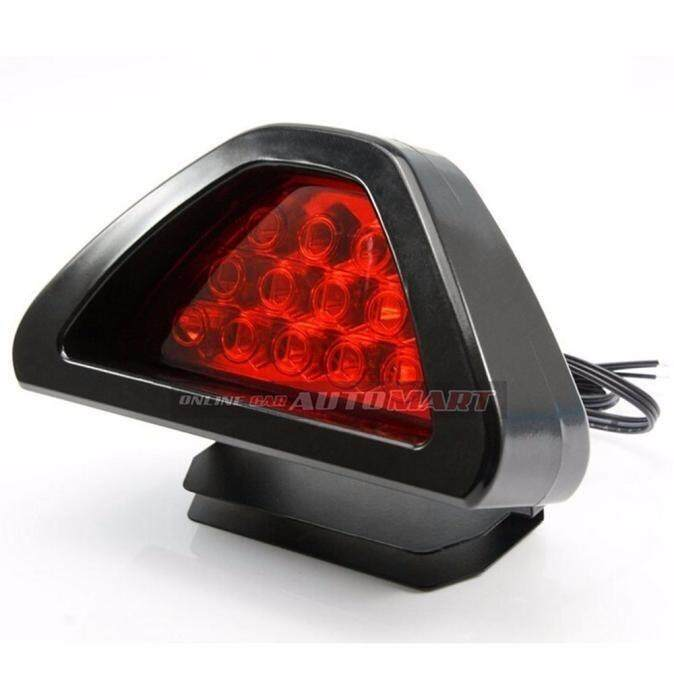 Universal Led Brake Stop Light 12 LED Car Motocycle Triangle Tail Light LED Flash Bulbs Safety Strobe Lamp-RED