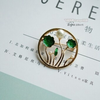 Harga Variety of multicolor drip green leaf pearl leaves and flowersswallow brooch female brooch accessories jewelry new