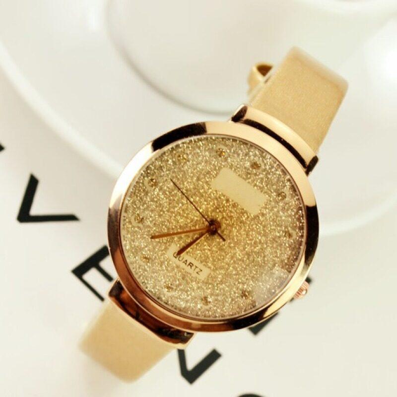 Vintage Korean Fashion Watch Leather Strap Quartz Analog Wristwatch Malaysia