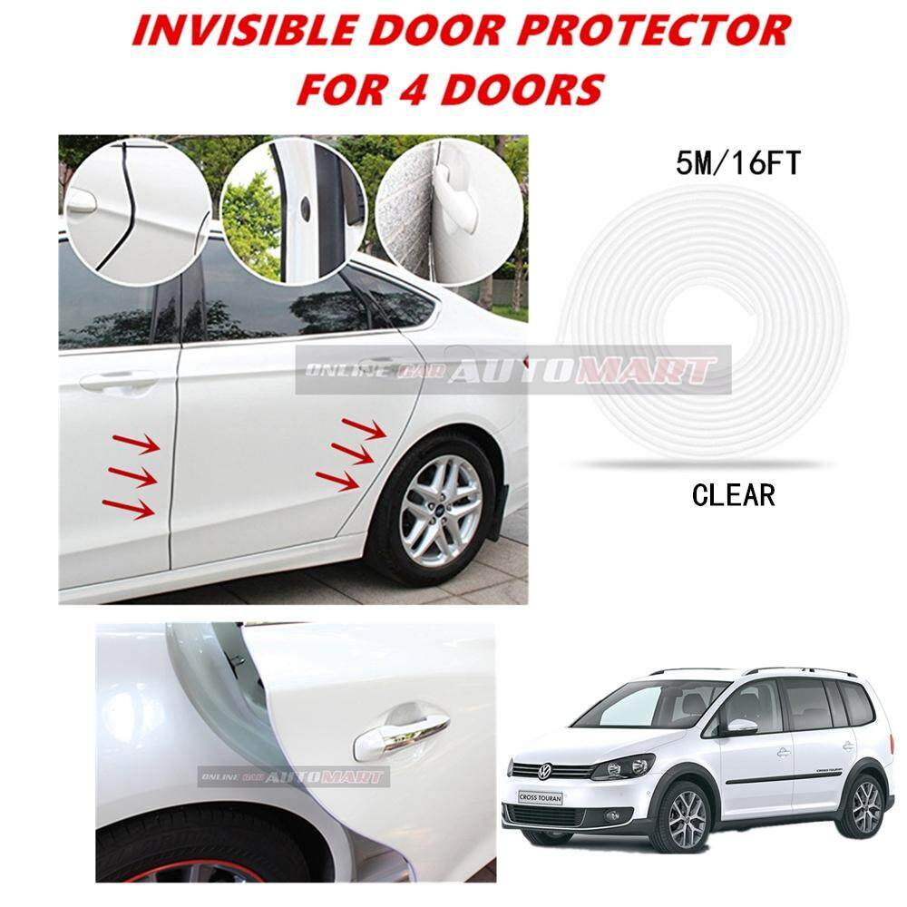 Volkswagen Cross Touran - 16FT/5M (CLEAR) Moulding Trim Rubber Strip Auto Door Scratch Protector Car Styling Invisible Decorative Tape (4 Doors)