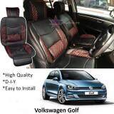 Broz Volkswagen Golf Red Lining Design Universal Car PU Seat Mat with Lumbar Support Per Piece