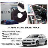 Volkswagen Golf SCHEME SILENCE (Double D) DIY Air Tight Slim Rubber Seal Stripe Sound & Wind Proof & Sound Proof for Car (4 Doors)