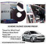Volkswagen Polo Sedan SCHEME SILENCE (Double D) DIY Air Tight Slim Rubber Seal Stripe Sound & Wind Proof & Sound Proof for Car (4 Doors)