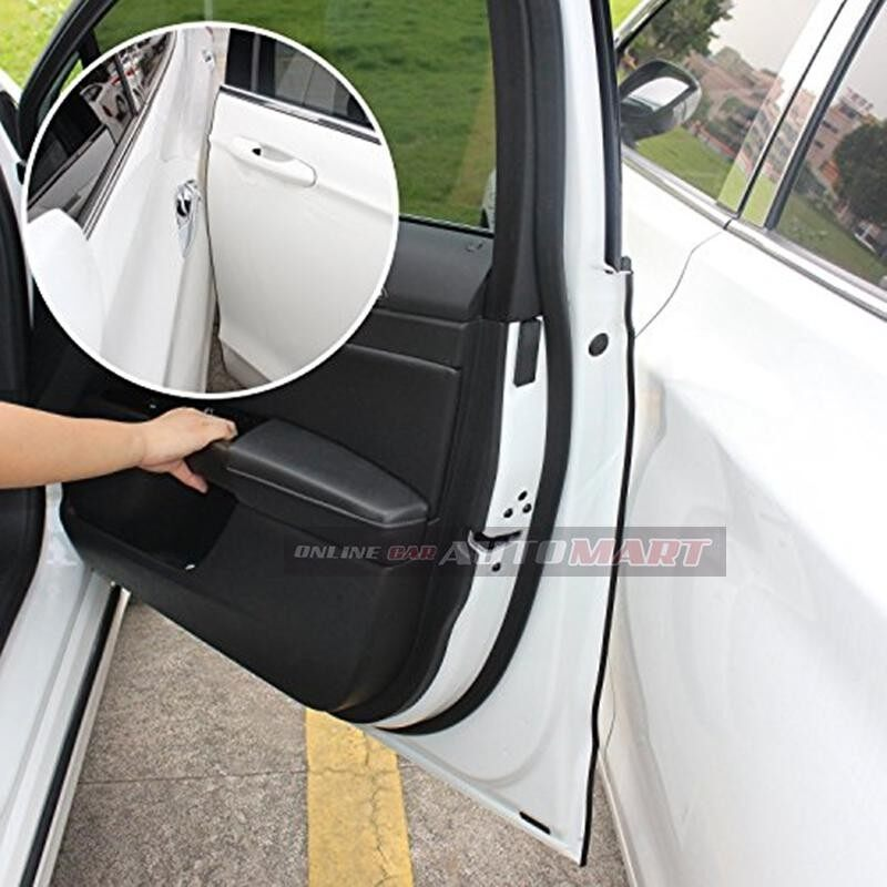 Volkswagen Vento - 16FT/5M (WHITE) Moulding Trim Rubber Strip Auto Door Scratch Protector Car Styling Invisible Decorative Tape (4 Doors)