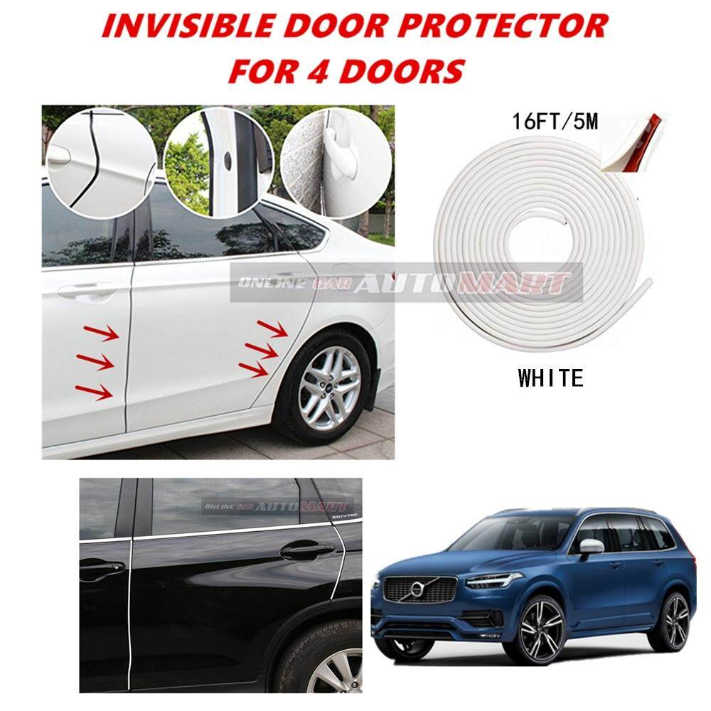 Volvo XC90 - 16FT/5M (WHITE) Moulding Trim Rubber Strip Auto Door Scratch Protector Car Styling Invisible Decorative Tape (4 Doors)