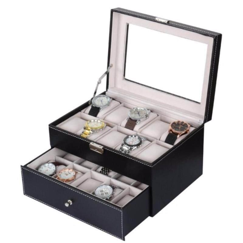Watch Case PU Leather Box Storage 20 Slots Malaysia