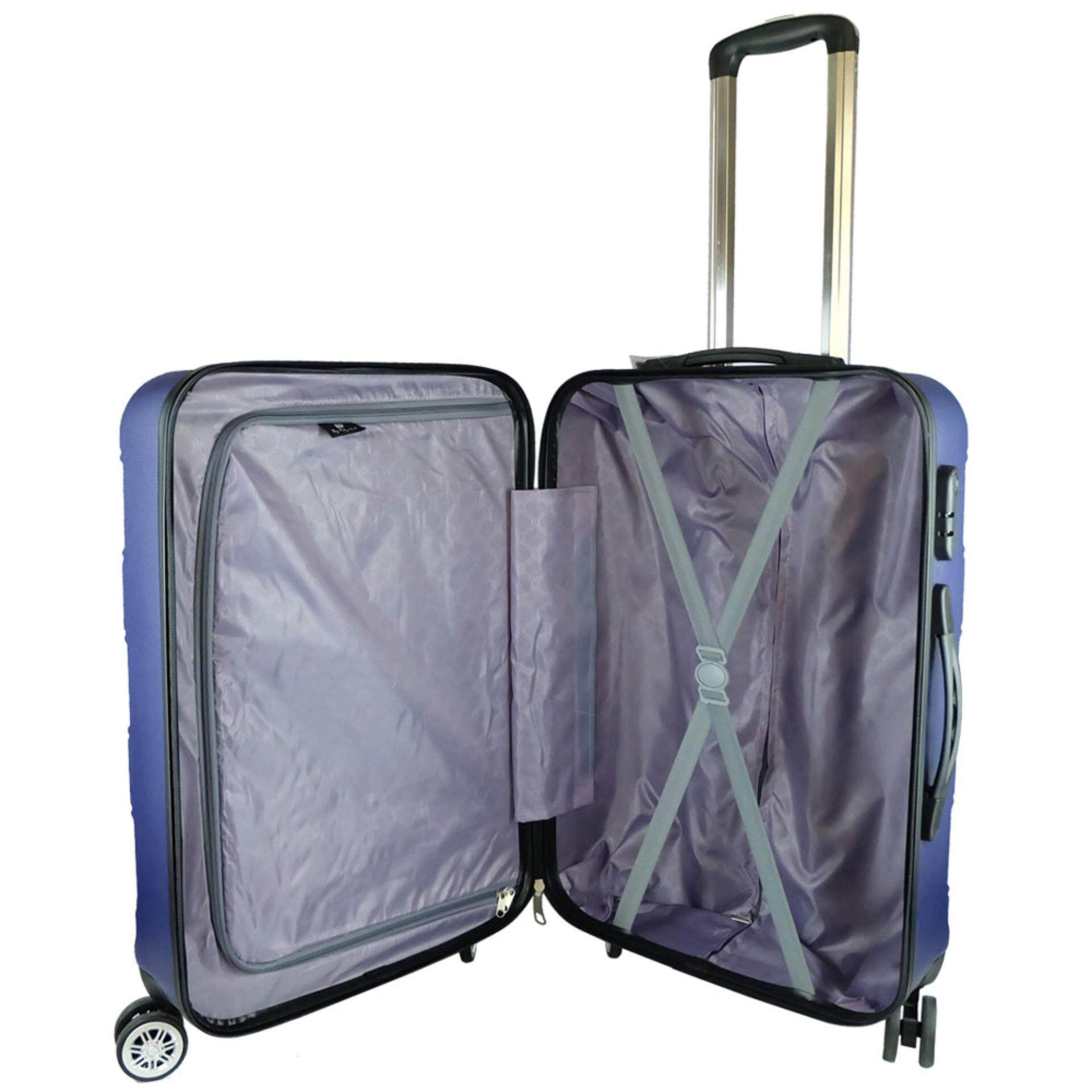 Waterpolo WA1792- 24 inch ABS Hard Case Trolley- Navy