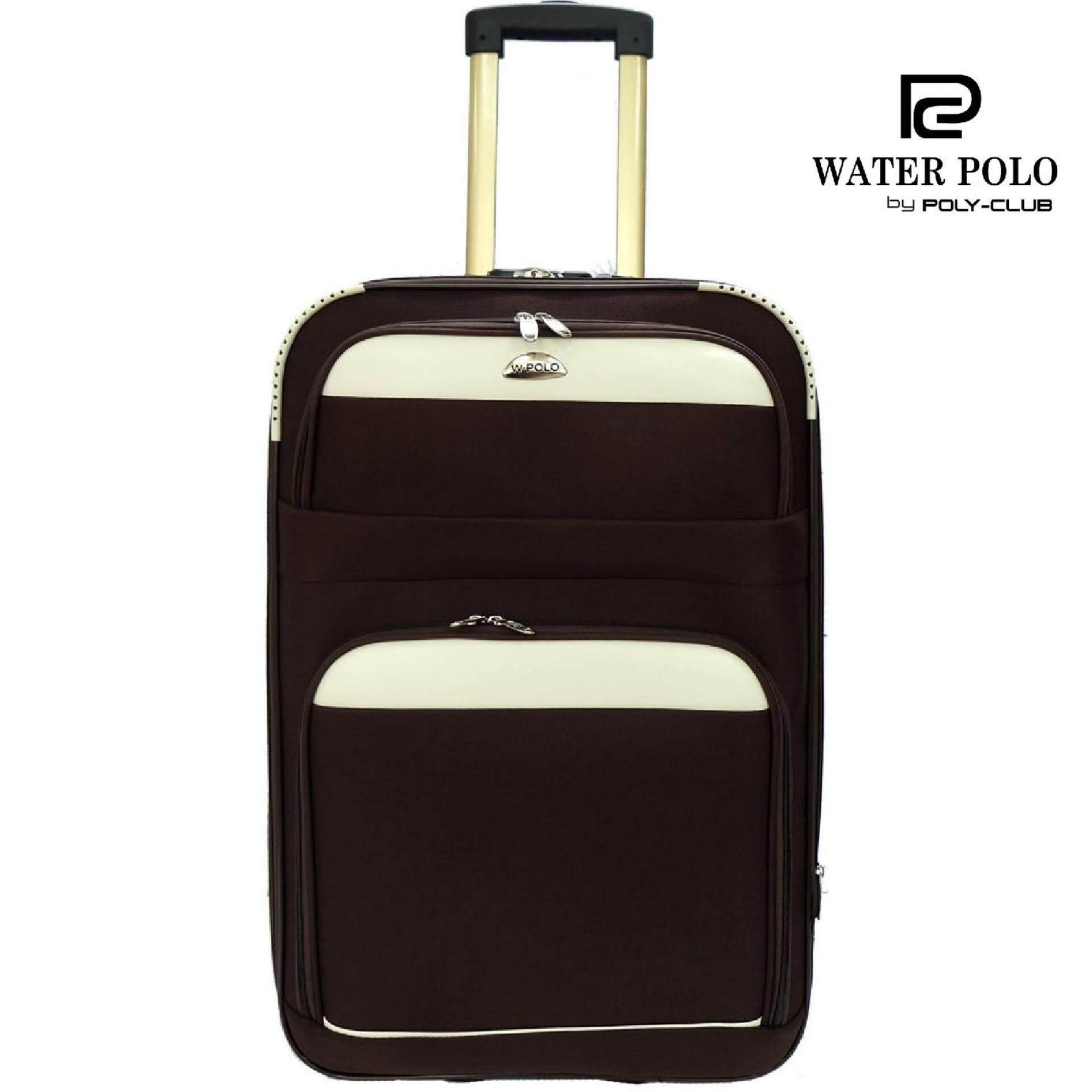 Waterpolo WE1598 28 Inch 2 Wheel Anti theft EVA Trolley Case- Brown f3617d010b