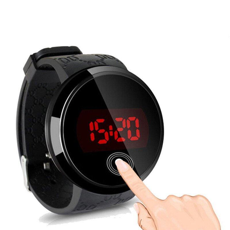 Waterproof Men LED Touch Screen Day Date Silicone Wrist Watch Black Malaysia