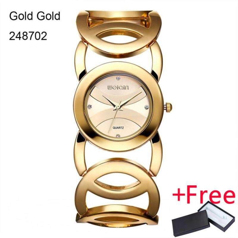 WEIQIN Brand Magic Luxury Rose Gold Watch Jam Tangan  Full stainless steel woman Fashion OL Lady Commercial Watch Jam Tangan es Feminino 2487 Malaysia