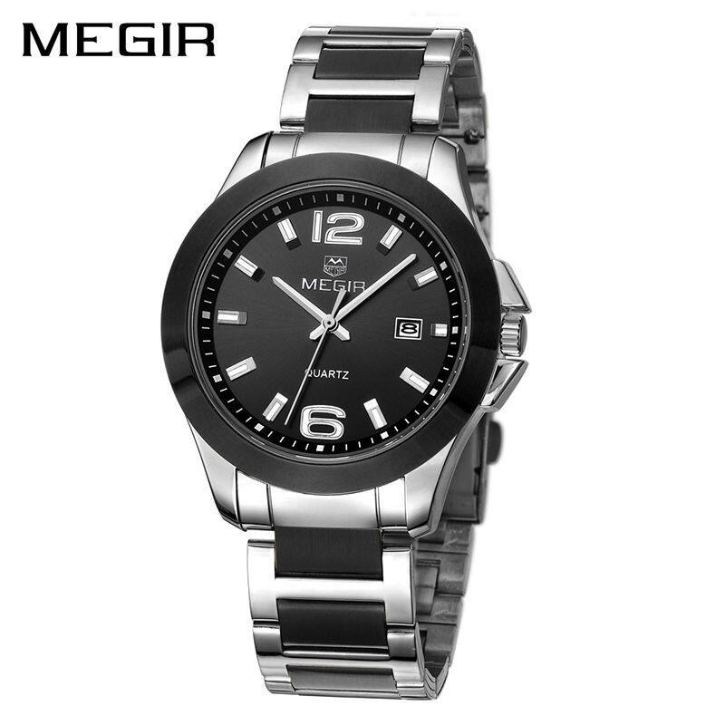 Wholesaler MEGIR MS5006G Original Men Watch Jam Tangan  Stainless Steel Business Quartz Watch Jam Tangan es Calendar WristWatch Jam Tangan  Clock Waterproof Malaysia