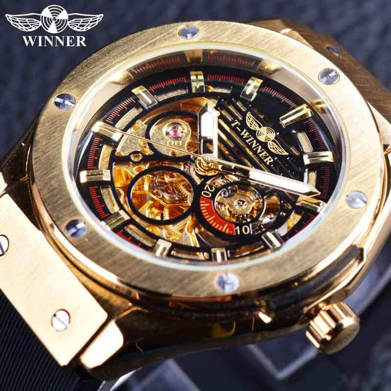 Pemenang GMT952 3 Tombol Penyetel Emas Logam Seri Pria Jam Tangan Terbaik Merek Mewah Otomatis Jam Tangan Mewah Merek Mekanis Kerangka Pergelangan Tangan Pria jam Tangan-Internasional