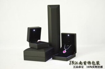 Harga With light jewelry box high-grade LED packaging box ring boxpendant box Pearl diamond ring box gift bracelet necklace box