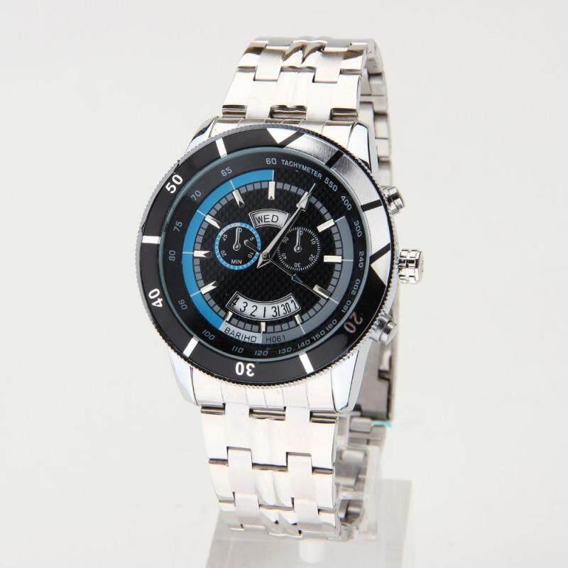 Womdee 2016 Waterproof Full Steel Mens Watch Fashion Quartz Watches Men Auto Date Clock Men Casual Luxury Relojes Hombre Free Shipping (Blue) Malaysia