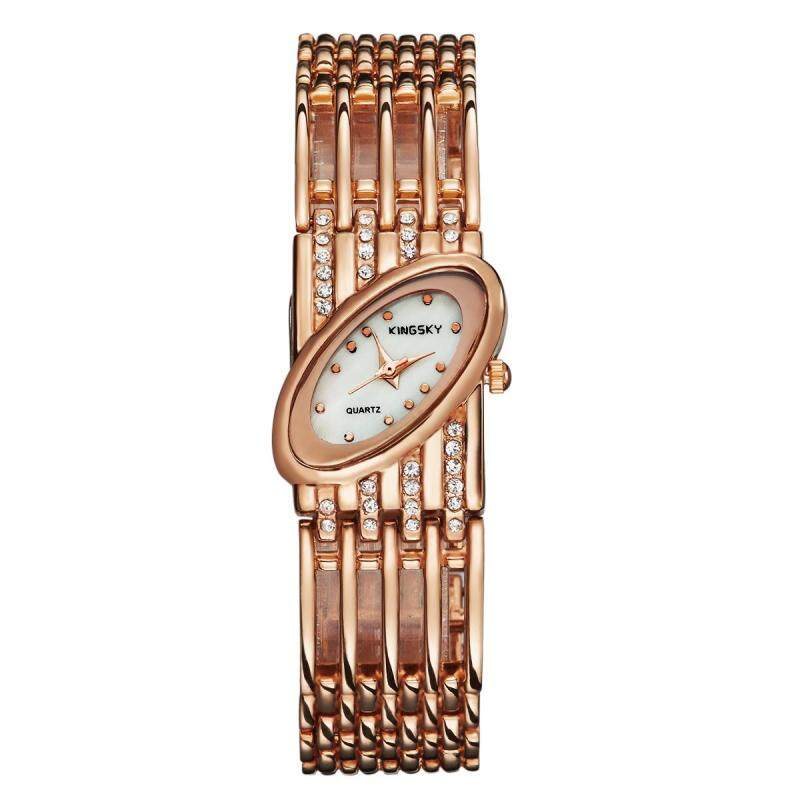 Womdee Kingsky genuine hand twist drill watch quartz watch factory direct foreign trade import machine color wholesale (Rose Gold) Malaysia