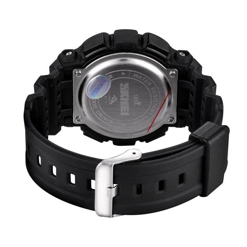 Womdee SKMEI authentic fashion students watch electronic watches wholesale multicolor tide (Black) Malaysia
