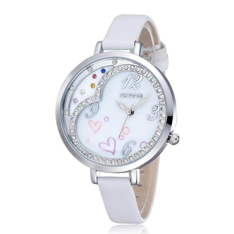 Womdee skoneSKONE love fashion watches shell dial diamond watch Ms. (white) Malaysia